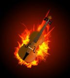 Violin in Fire Stock Photos