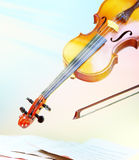 Violin in flight Stock Images