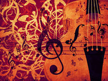 Violin floral background Stock Image