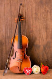 Violin and flower Royalty Free Stock Image