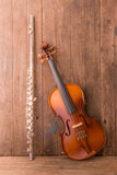 Violin and flute Royalty Free Stock Photos
