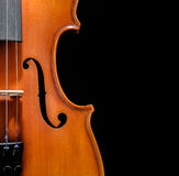 Violin front view cropped Stock Photos