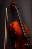 Violin. Gorgeous violin as a background close-up Stock Photo
