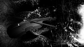 Violin on grunge background Royalty Free Stock Photos