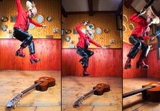 Violin or a guitar? Stock Photo