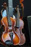Violin guitar and accordion still life 3 Royalty Free Stock Photos