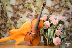 Violin,guitar, and rose Royalty Free Stock Photography