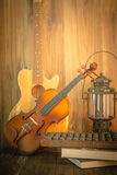 Violin -guitar still life Royalty Free Stock Photography
