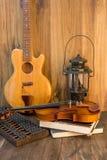 Violin -guitar still life Stock Image