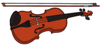 Violin. Hand drawing of a violin Royalty Free Stock Photography
