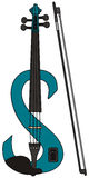 Violin. Hand drawing of a blue electric violin Stock Images