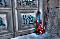Violin in HDR Royalty Free Stock Image