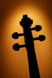 Violin head 4. A SILHOUETTE of the head of the violin royalty free stock photography