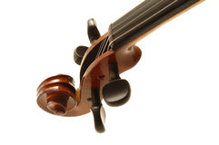 Violin head. On a white background stock photography