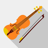 Violin icon, flat style. Violin icon. Flat illustration of violin vector icon for web design Royalty Free Stock Image
