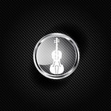Violin Icon. Music background Stock Photography