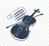 Violin  icon and music books 2. Violin  icon and music books Royalty Free Stock Photos
