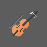 Violin Icon Music Instruments Concept Royalty Free Stock Image