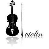 Violin icon Stock Photography