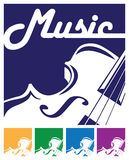 Violin icon Royalty Free Stock Image