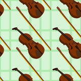 Violin instrument seamless background design Royalty Free Stock Photography