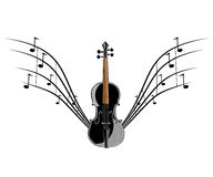 Violin instruments illustration Royalty Free Stock Photo