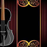 Violin instruments illustration Royalty Free Stock Photos