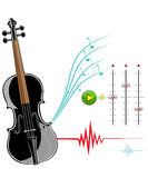 Violin instruments illustration. Royalty Free Stock Images