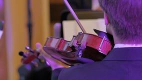 Violin instruments, symphony orchestra. Stock footage stock photos
