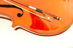 Violin isolate on white background Stock Photos