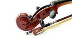 Violin isolate on white background Royalty Free Stock Images