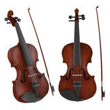 Violin isolated. Two angles of view Royalty Free Stock Photos
