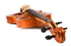 Violin isolated on white. Background Royalty Free Stock Image