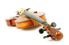 Violin isolated on white Stock Images