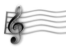 Violin Key. Isolated on white Royalty Free Stock Photo