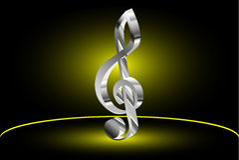 Violin key, music clef,. Violin key, music clef symbol Royalty Free Stock Photos