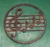 Violin key and notes Royalty Free Stock Image