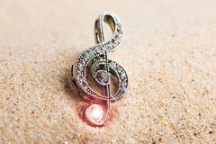 Violin key treble clef Stock Images