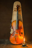 Violin with lantern Stock Photography