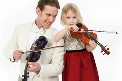 Violin Lesson Royalty Free Stock Photos