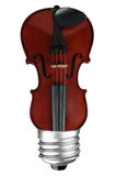 Violin lightbulb Stock Image