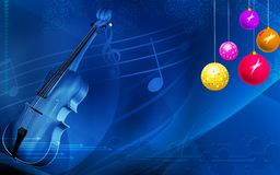 Violin with lights Royalty Free Stock Image