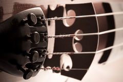 Violin with little dust Royalty Free Stock Photography