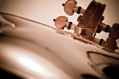 Violin with little dust Royalty Free Stock Photo