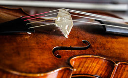 Violin. Lone period violin with bow Stock Images