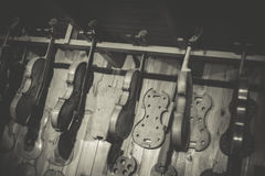 Violin maker Royalty Free Stock Photos