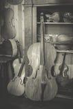 Violin maker Royalty Free Stock Photo