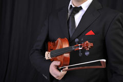 Violin man 01 Stock Image