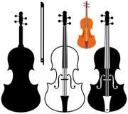 Violin. Marathon. Vector illustration (EPS 10 Royalty Free Stock Photo