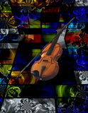 Violin. Modern Art. Violin on abstract background Royalty Free Stock Photo